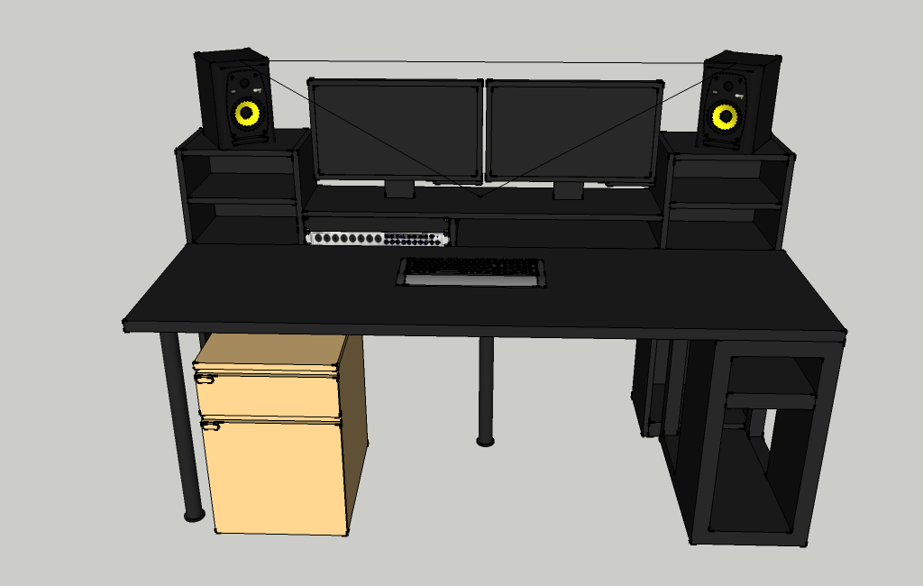 Ikea music production desk for Modelli sketchup ikea