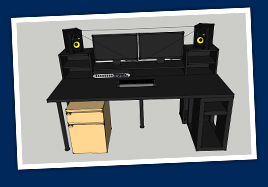 ikea music production desk. Black Bedroom Furniture Sets. Home Design Ideas